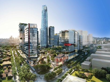 Topping out at 439 m, the Signature Tower will be another architectural highlight in the skyline of Kuala Lumpur.  : Topping out at 439 m, the Signature Tower will be another architectural highlight in the skyline of Kuala Lumpur.