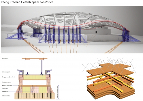 Constructive details of the elephant house