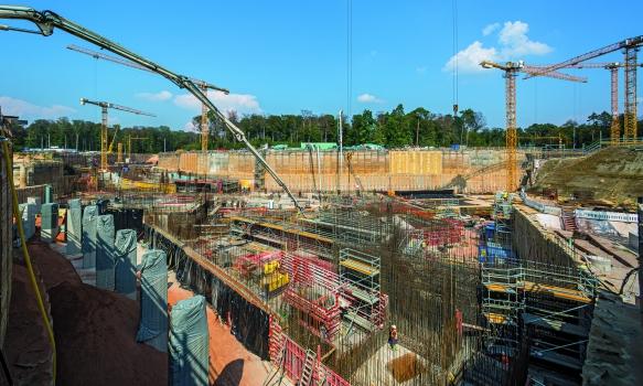 Tunnel und Kreuzungsbauwerk in knapp 20 m Tiefe : Der 1.100 m lange Tunnel sowie das Kreuzungsbauwerk werden in knapp 20 m Tiefe hergestellt.