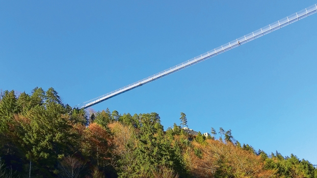 The highline179 was erected at a height of nearly 1,100 m.