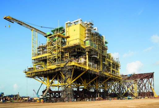 Gas compressor platform CA-KU-A1: The gas compressor platform CA-KU-A1 was erected at the shipyard of Dragados Offshore in Tamaulipas/Mexico.