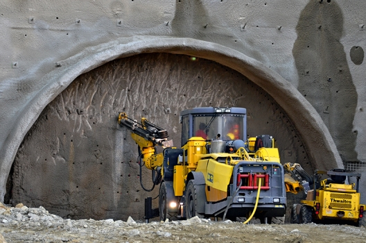 Excavation in accordance with the New Austrian Tunnelling Method (NATM)