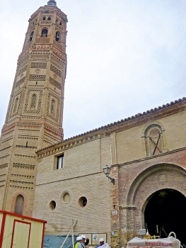 The Church of San Andrés during the repairs