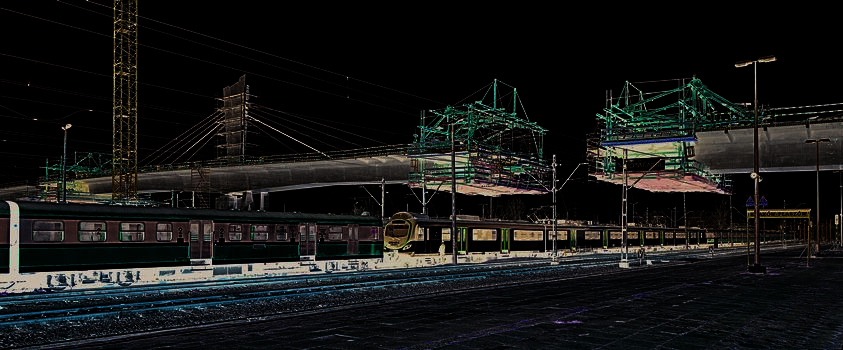 Construction of the 252 m long crossing over the Krakow-Plaszow railway junction was carried out using four VARIOKIT cantilevered construction carriages