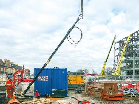 A first anchor section is being lifted.
