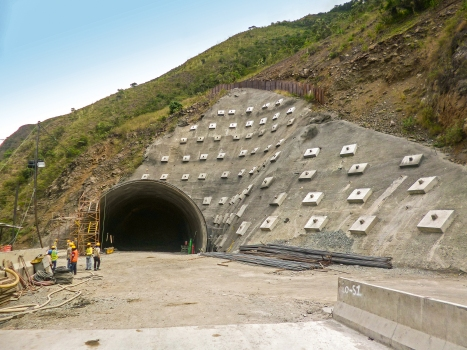Portal of one of nine tunnels that belong to the Loboguerrero tunnel chain