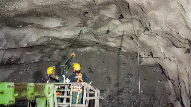 Einbau der Felsanker