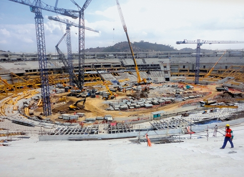 The Maracanã Stadium during extension