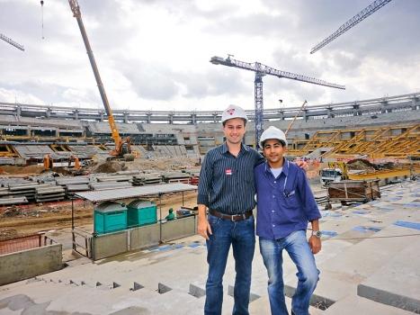 Das Maracanã-Stadion während der Erweiterung