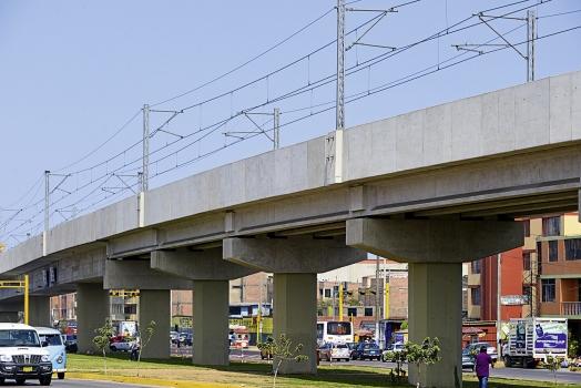 Ein Teil des bereits eröffneten Bauabschnitts der Linie 1