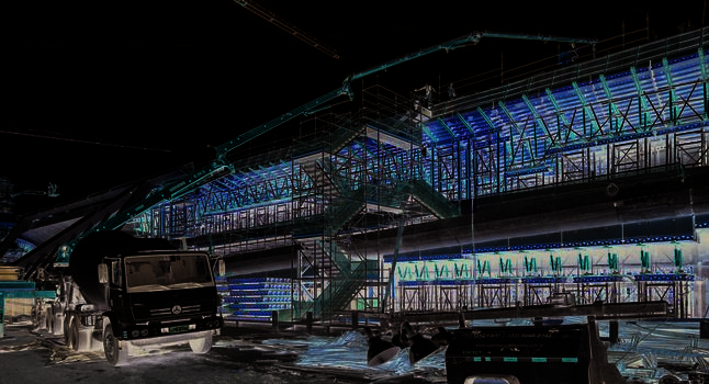 Planning, assembly and material allocation were ideally coordinated to suit the construction schedule.  : Planning, assembly and material allocation were ideally coordinated to suit the construction schedule.