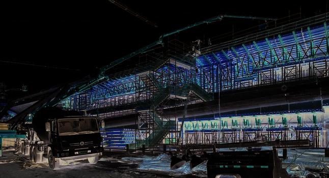 Planung, Montage und Materialdisposition waren detailliert auf den Bauablauf abgestimmt.