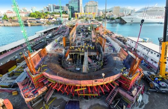An important part of the PERI overall concept was also providing perfectly matched formwork and scaffolding systems.  : An important part of the PERI overall concept was also providing perfectly matched formwork and scaffolding systems.