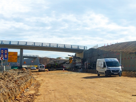 The development of the old National Road II into a new motorway also required new bridges in the province of Girona.  : The development of the old National Road II into a new motorway also required new bridges in the province of Girona.