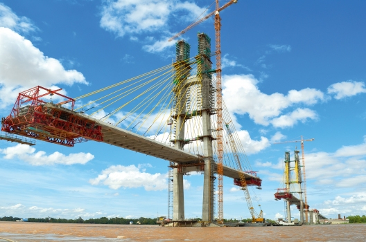 The Tsubasa Bridge during construction