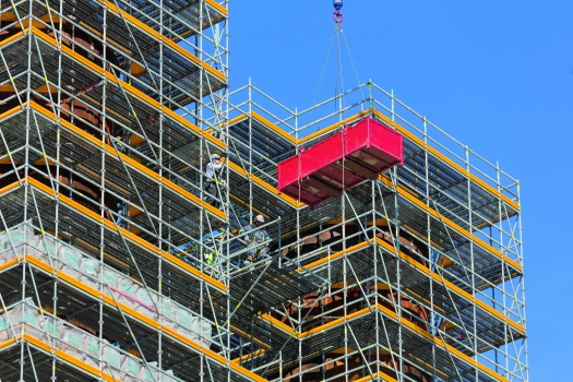 Project-specific PERI UP industrial scaffold solutions accelerate working operations and increase safety levels.  : Project-specific PERI UP industrial scaffold solutions accelerate working operations and increase safety levels.