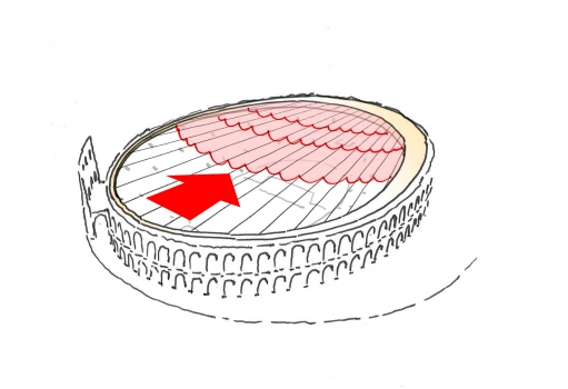 Moving positions of membrane roof