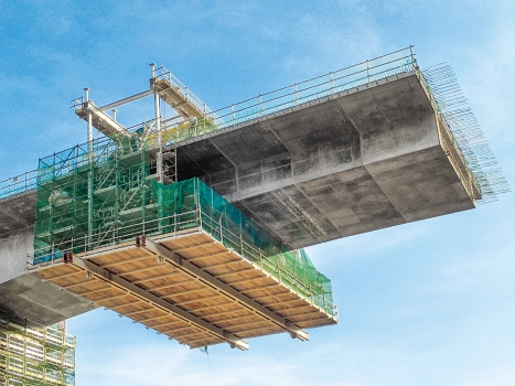 Osabe Viaduct: The Osabe Viaduct is a six-span, prestressed concrete continuous rigid frame box girder bridge.