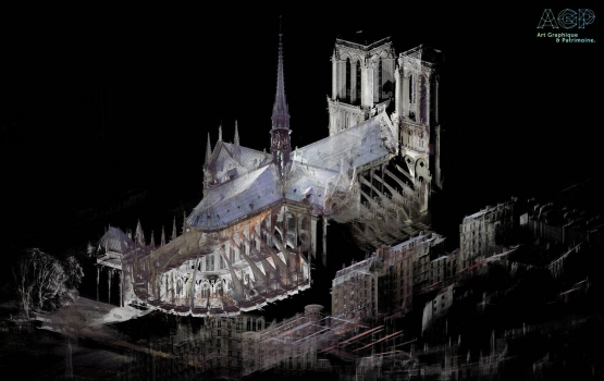 Point cloud of Notre-Dame