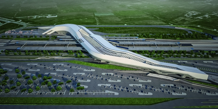 Zaha Hadid had designed the station as a bridge that floats 30 m above the railroad tracks and links them together. The futuristic station thus acts as a gateway to the city of Naples