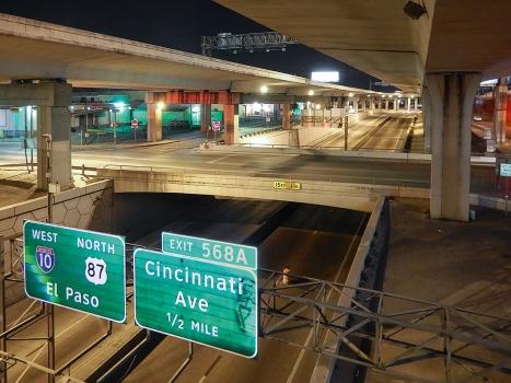 Der Y Interchange in der Innenstadt von San Antonio, Texas