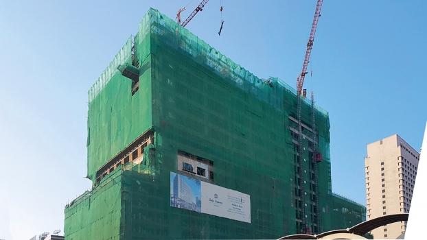 Der Büroturm am Sule Square wird 15 Stockwerke hoch werden.