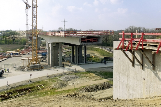 Lappach Bridge during construction