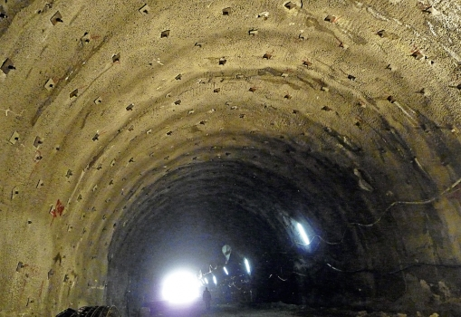 View inside a tunnel tube