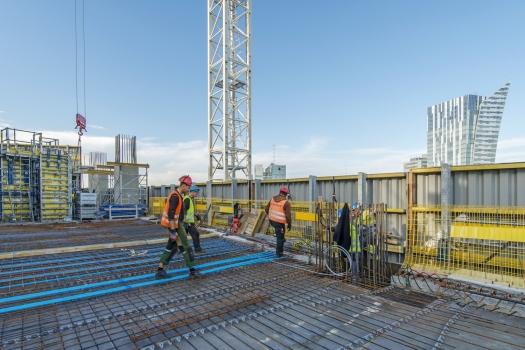 Rahmenschalung ein Hauptbestandteil: Eine Rahmenschalung war bei diesem Projekt einer der Hauptbestandteile.