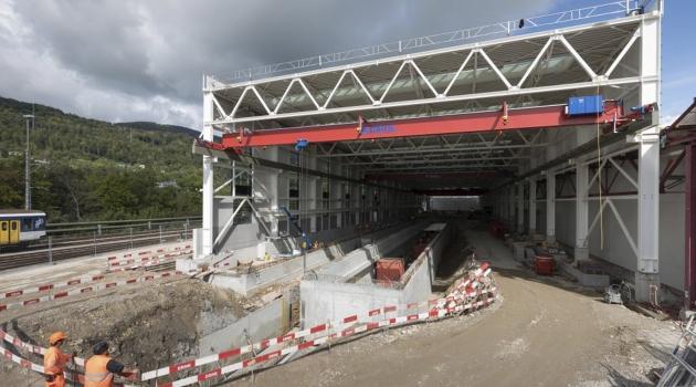 In der neuen Wartungshalle des SBB-Industriewerks in Olten wird der Unterhalt von Trieb- und Gliederzügen einfacher und schneller möglich sein.