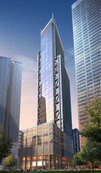 The World Trade Center Tower 3 will boast an overall height of 357 m upon its completion.