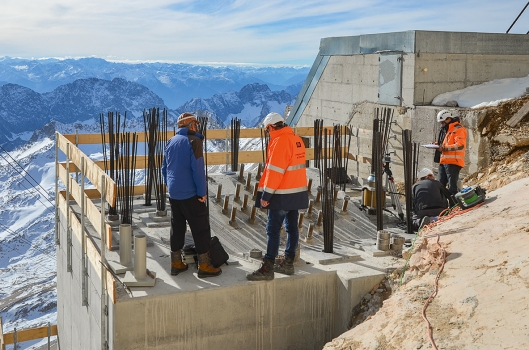 Germany's highest jobsite on the Zugspitze Mountain offers an amazing view