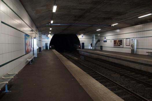 Metrobahnhof Vigie, Linie M1 der Métro Lausanne