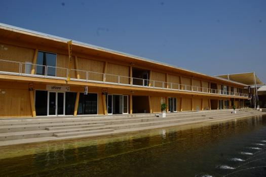 Expo 2015 - standard timber service building