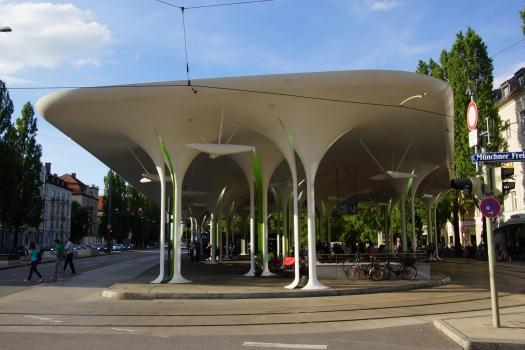 Station de tram Münchner Freiheit
