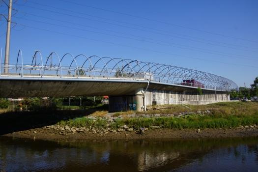 Metrobrücke über den Rio Galindo