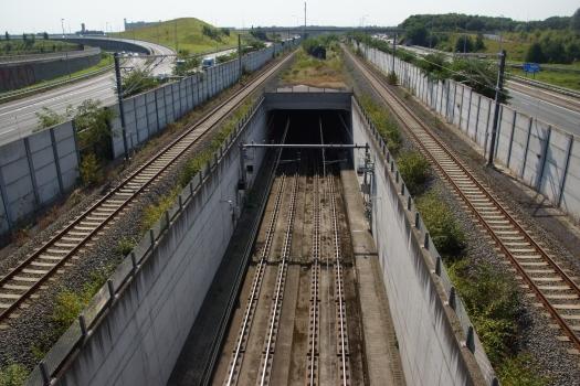 Diabolo-Eisenbahntunnel