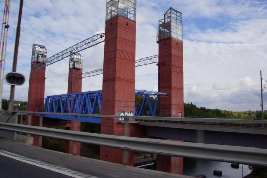 Pont ferroviaire sur le canal de Södertälje