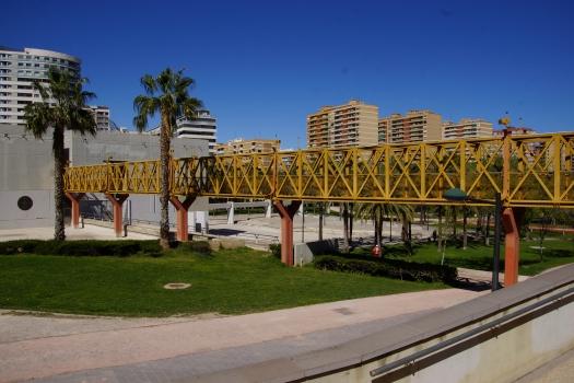 Fußgängerbrücke in den Turia-Gärten