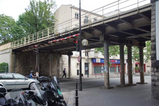 Pont de la Petite Ceinture de franchissement de l'avenue de Clichy