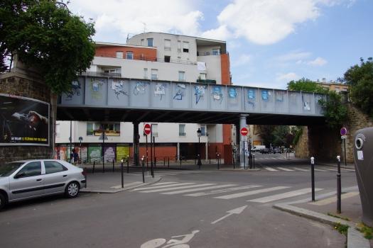 Pont ferroviaire sur la rue de la Jonquière