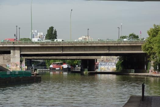 Pont du Périphérique sur le Canal de l'Ourcq