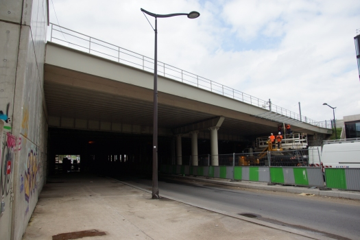 Eisenbahnüberführung Boulevard Berthier (II)