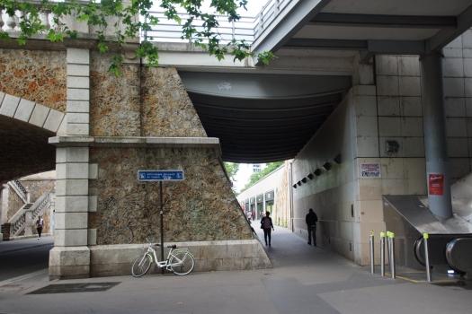 Pont de la rue de Tolbiac sur la rue du Chevaleret