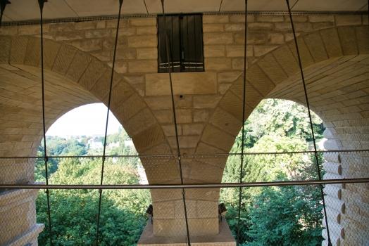 Passerelle sous le Pont Adolphe