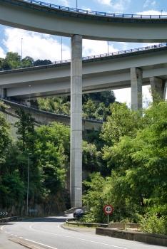 Talbrücken über den Cadagua