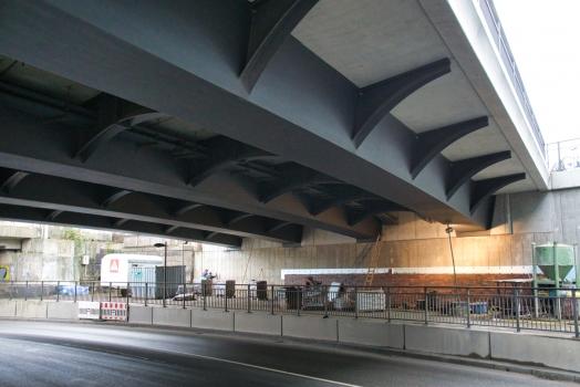 Overpass over Baakenwerder Strasse