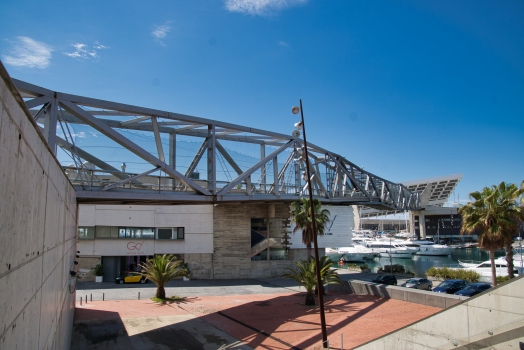Passerelle du port de Besos