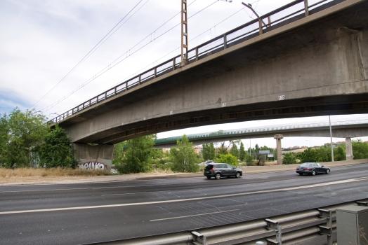Eisenbahnbrücke über den río Manzanares