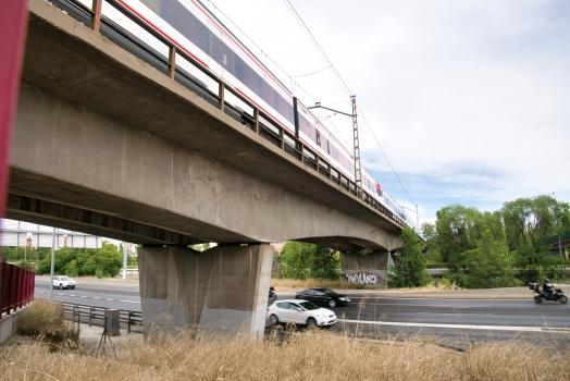 Pont ferroviaire sur le río Manzanares